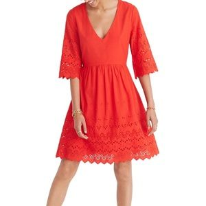 Madewell Eyelet Red Dress